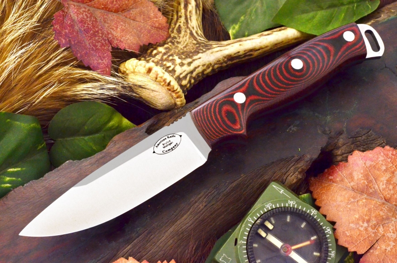 akc shenandoah black and red linen micarta 279.95