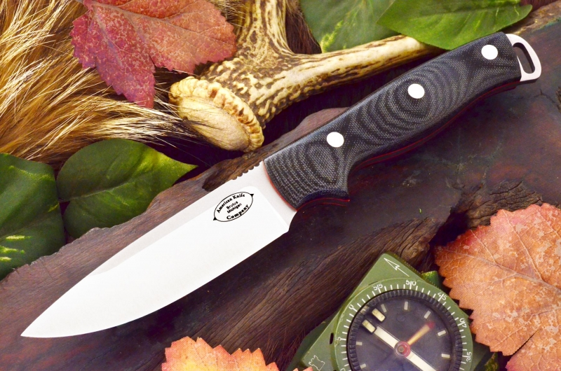akc shenandoah black canvas micarta red liners 279.95